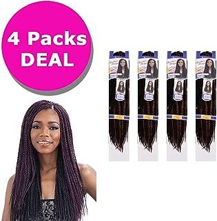 FreeTress Synthetic Hair Crochet Braids - Senegalese Twist Small (4 Packs, 1B)