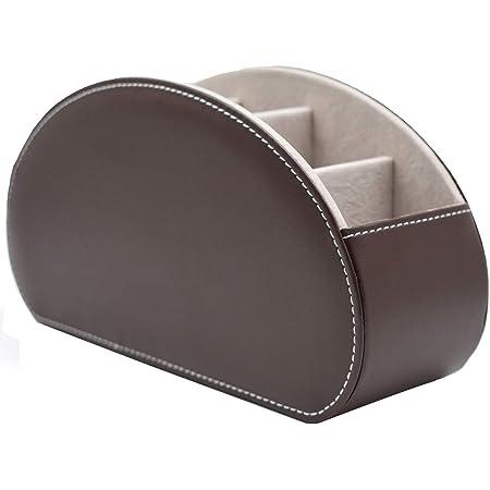 E-Goal リモコンラック 多機能収納ボックス PUレザーボックス 卓上小物