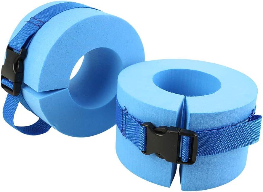 KASIQI 2pcs Foam Aquatic Cuffs Swimming Leggings Arm Floating Ri