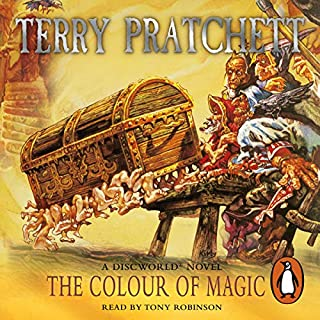 The Colour of Magic     Discworld 1              By:                                                                                                                                 Terry Pratchett                               Narrated by:                                                                                                                                 Nigel Planer                      Length: 6 hrs and 55 mins     281 ratings     Overall 4.4