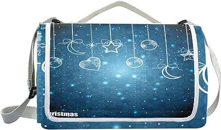 Jeansame Picknick-Matte für Winter, Mond, Sterne, Sterne, Sterne, Picknick-Decke für Outdoor-Aktivitäten, Wandern, Yoga, wasserdicht, tragbar, faltbar, 150 x 145 cm B07MRGKLW1 | Ausgezeichnet (in) Qualität  3e4c4c