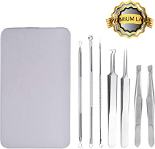 Blackhead Remover, 7 Pcs Professional Pimple Comedone Extractor Popper Tool Acne Removal Kit - Treatment for Pimples, Blackheads, Zit Removing, Forehead,Facial and Nose