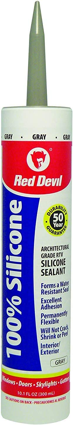Red Devil 0816 50 100 Great interest Percent Chicago Mall Silicone Sealant Pack 9 Gray Oz