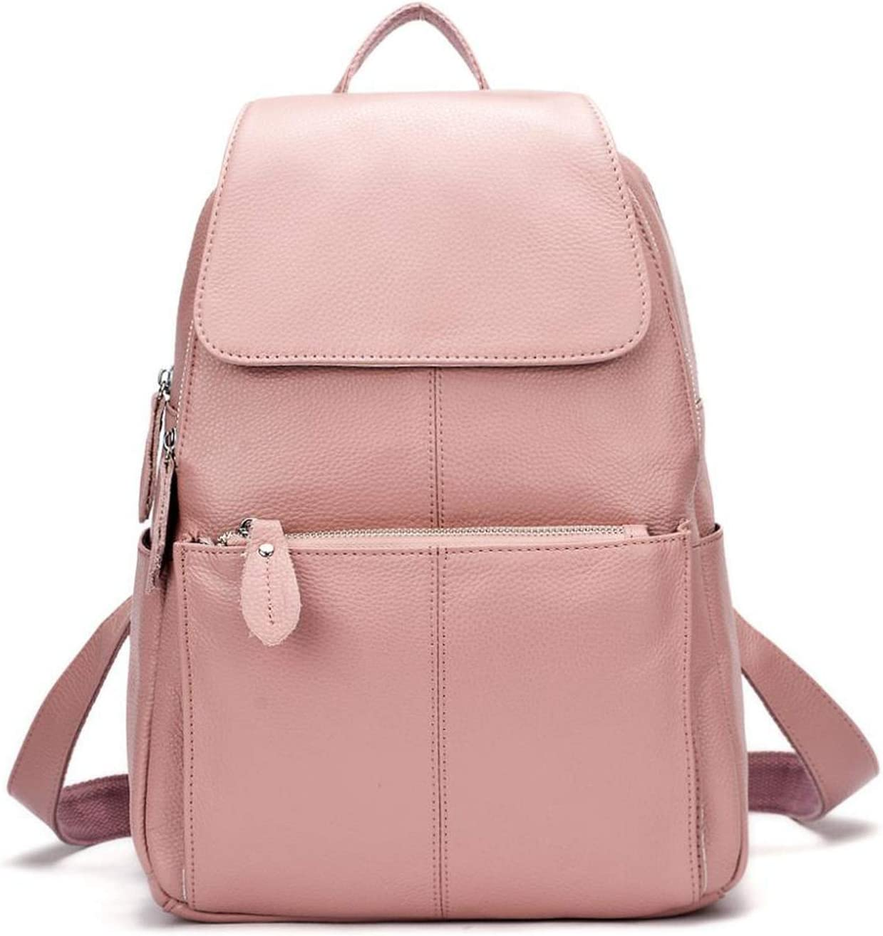 Leather Silver Hardware Women Ladies Backpack Top Girl Layer Cow Cash Direct stock discount special price
