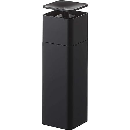 山崎実業(Yamazaki) 片手で出せる ディスペンサー ブラック 約W5.5XD5.5XH18.5cm タワー 洗剤 化粧水 アルコール対応 お手入れ簡単 5214