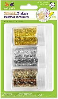 Krafty Kids GC400A Glitter Shaker Jars, 21g, Gold/Silver/Multi