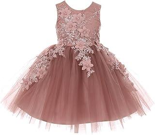 a70484b3e7e Cinderella Couture Big Girls Mauve 3D Floral Appliques Soft Tulle Easter Flower  Girl Dress 8-