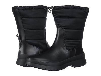Cole Haan Pinch Utility Puffer Boot Waterproof (Black WP Leather/Black Nylon/Gunmetal/Black) Women