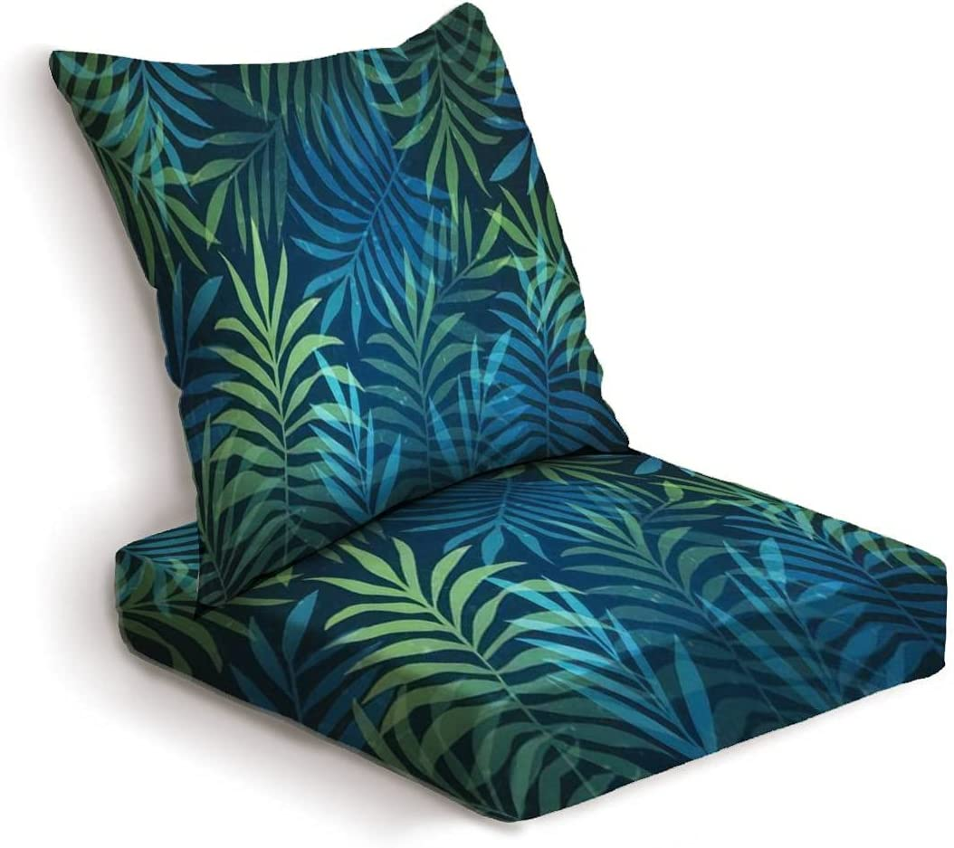Barpapier 2-Piece Deep Jacksonville Mall Seat Cushion Rare Tropical with Background Set