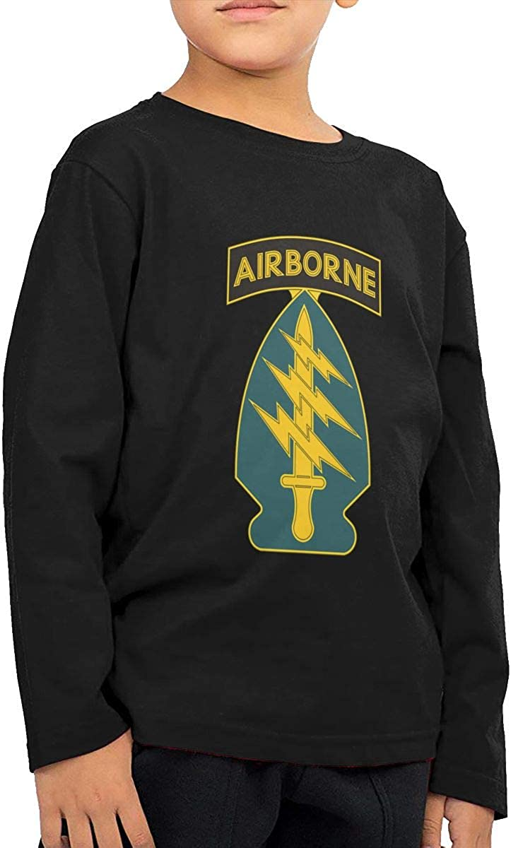 NOT US Army Special Forces Airborne Boys Kids Fashion ChildLong Sleeve T-Shirt Long Sleeve Shirt