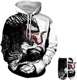 Novelty Unisex 3D Printed Ahegao Hoodies Drawstring Pockets Hoodie Sweatshirts