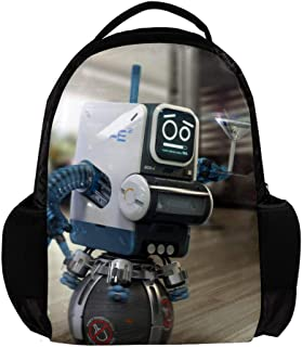 Kamays K Robot School Bag Children backpack Coffee