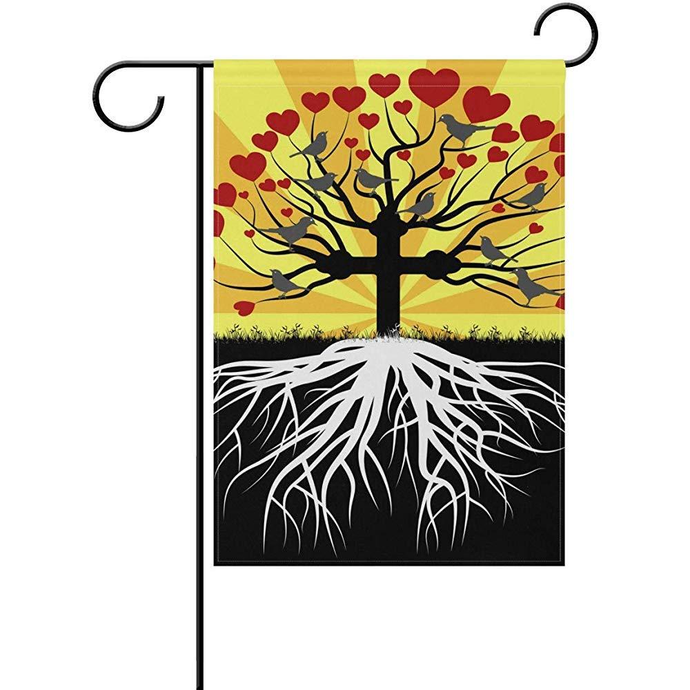 Bandera Del Jardin Ortodoxo Árbol De La Vida Amor Y Fe Inicio Bandera Fiesta Día De San Patricio Doble Cara Decoratio Vacaciones Bienvenida 32X48Cm Jardín Bandera Bandera Exterior Exterior Impri: Amazon.es: Jardín