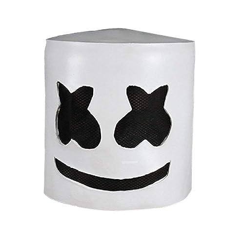Joyfunny Music DJ Mask Party Props Full Head Mask Halloween Cosplay Replica Latex Helmet