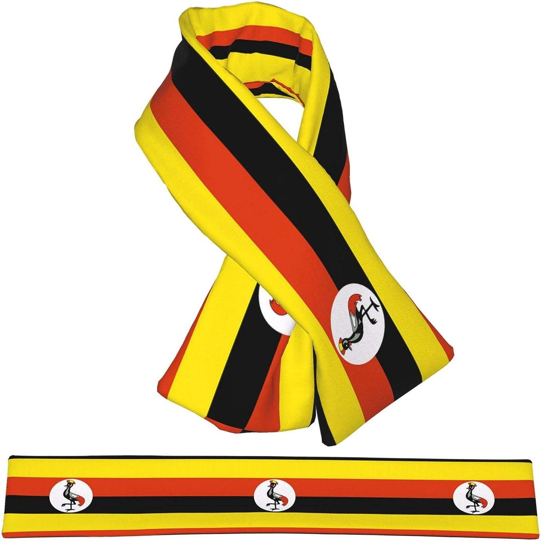 Winter Scarfs Uganda Flag Scarves Wraps Neck Warmer Flannel Winter Cross Tie Scarves