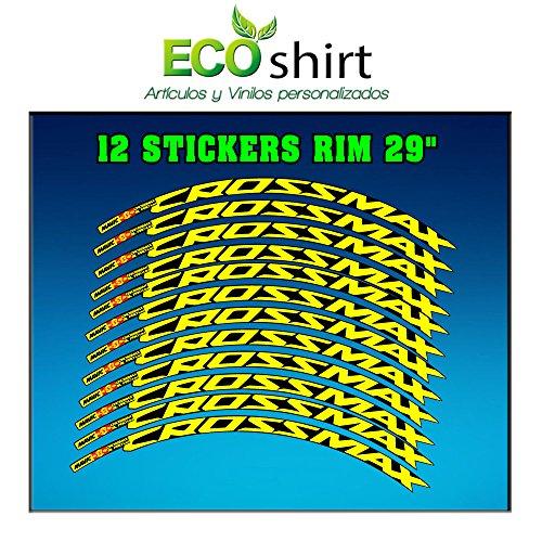 Ecoshirt Z9-3HL1-ONV4 - Pegatinas Llanta Rim Mavic Crossmax SL Pro 29' AM50 MTB Downhill, Multicolor