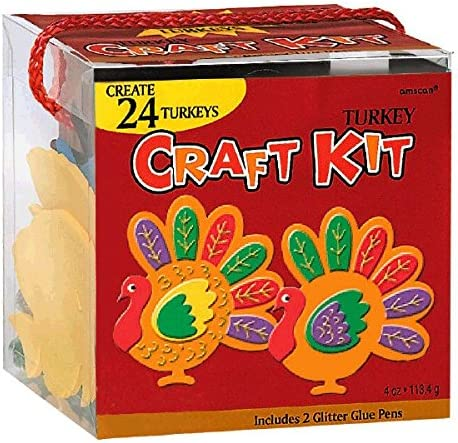 Thanksgiving Party Turkey Craft Kit   Makes Up To 24 Turkeys   P