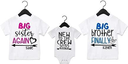 Big Sister Again Big Brother Finally Shirts Personalized Big Sister Big Brother Shirts