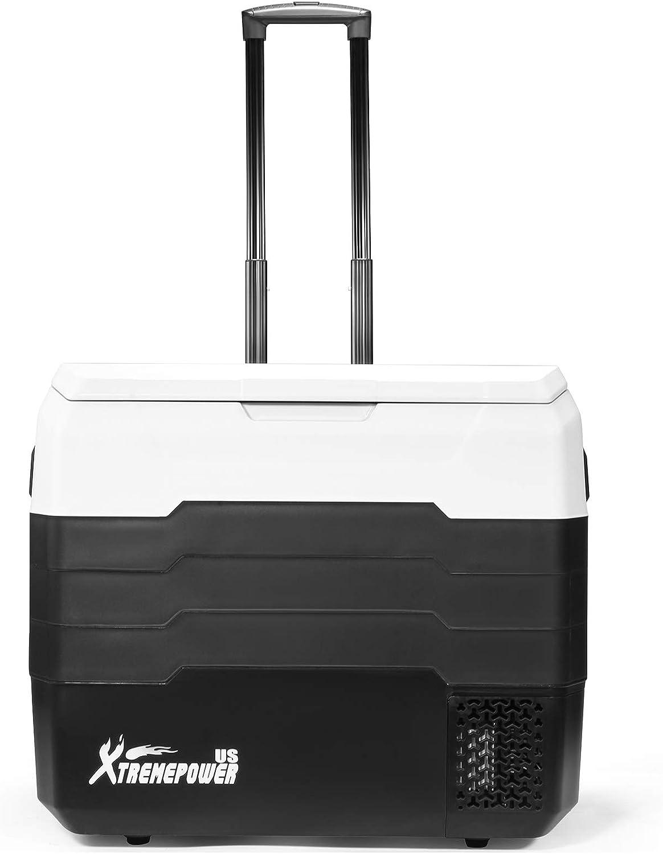 XtremepowerUS 93990 Cooler Portable Fridge 53QUART//50L AC//DC APP-XP Black//White