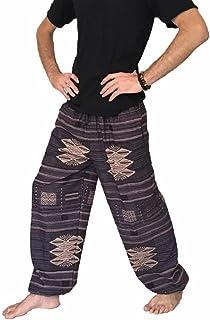 Love Quality Baggy Pants Men's Printed 100% Cotton Harem Pants One Size Hippie Boho
