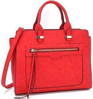 Dasein 女士人造皮革手提包设计师钱包挎包带斜挎包