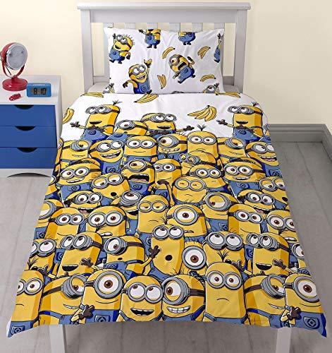 Despicable Me Minions Banana Bettwäsche-Set für Einzelbetten, Bettbezug
