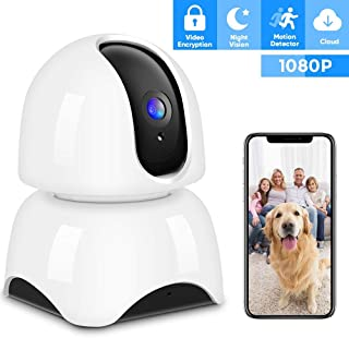 IP Camera Wireless 1080P, Home Security Camera WiFi Baby Monitor Indoor Camera with Night Vision Motion Detection Two-Way Audio for Baby/Elder/Pet Monitor Cloud Service Available