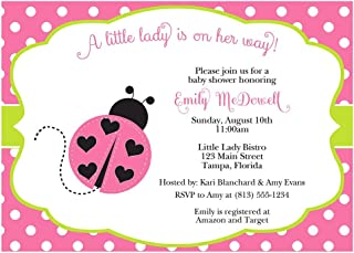 Best pink and green ladybug invitations Reviews
