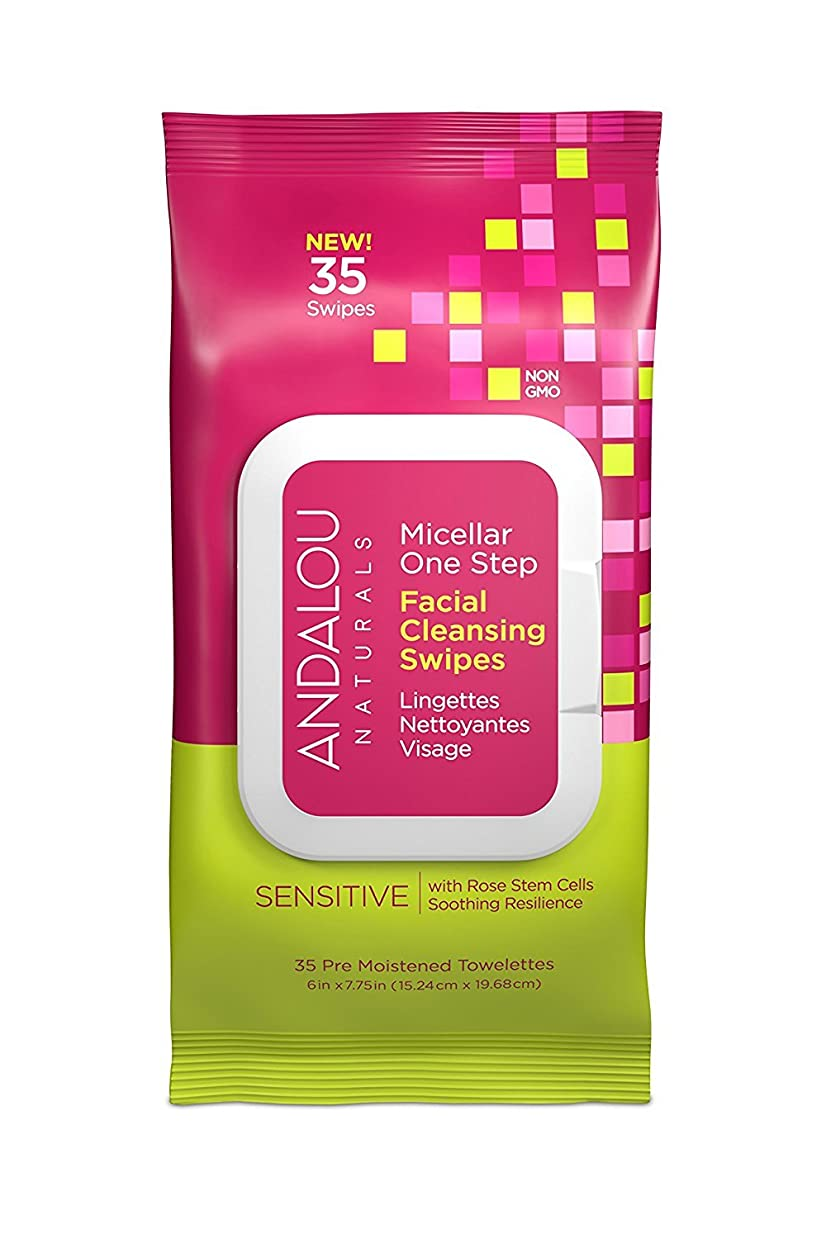 積分媒染剤魅了するオーガニック ボタニカル クレンジングシート 洗顔シート ナチュラル フルーツ幹細胞 「 Sミセラスワイプ 35枚入り 」 ANDALOU naturals アンダルー ナチュラルズ