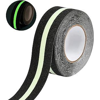 WOWOSS Cinta de Seguridad Antideslizante para Escalera o Pasillo, Cintas Adhesivas de Tracción in PVC Brilla en la Oscuridad (5 cm * 10 m): Amazon.es: Bricolaje y herramientas