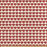ABAKUHAUS Valentine Stoff als Meterware, Lebendige rote