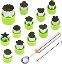 TIMGOU 12 Pcs Vegetable Fruit Cutter Shapes Set with Melon Baller Scoop and Cleaning..