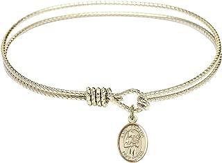 Benedict Charm. DiamondJewelryNY Double Loop Bangle Bracelet with a St