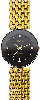Women's Flourence Gold Plated Bracelet Ceramic Case Quartz Black Dial Analog Watch R48793154