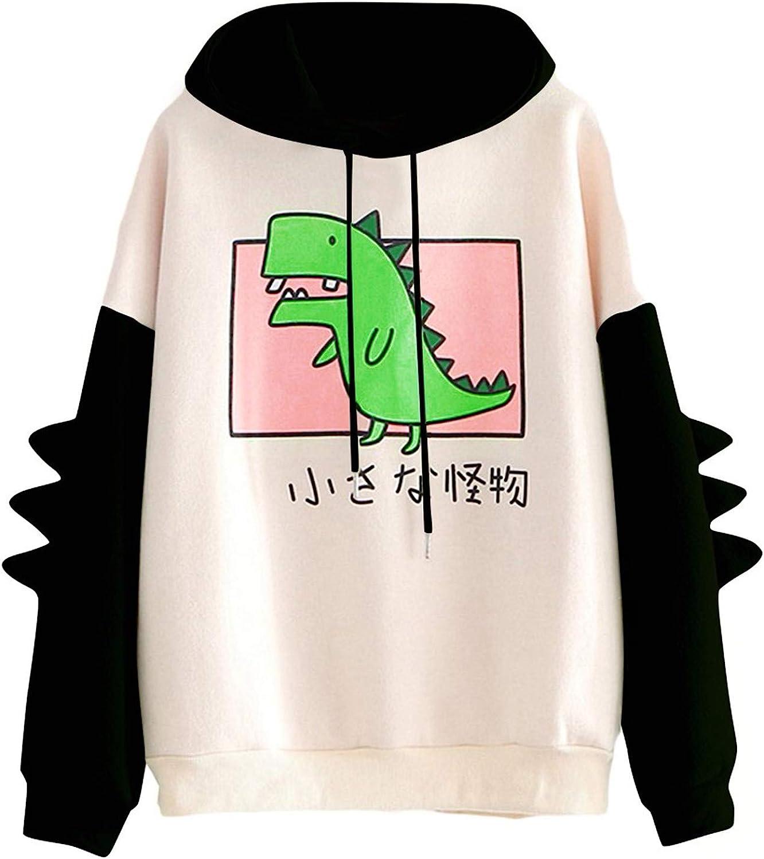 FABIURT Womens Hoodies, Women Girls Fashion Cat Printed Long Sleeve Hoodie Sweatshirt Casual Loose Pullover Hoodie Tops