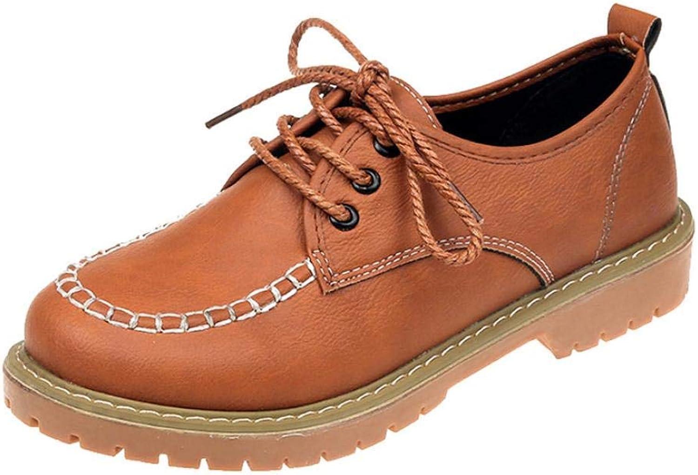 JaHGDU Women's shoes Fashion Knuckle Flat Leather Casual Lace Up Short Boots Ladies shoes Sonnena Ankle Boots Women High Heels Platform Knee Boots