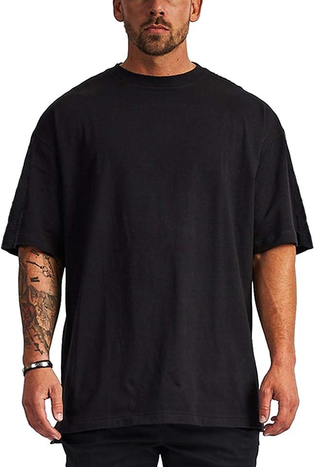 Men's Short Sleeve Loose T-Shirt Breathable Fashion Summer Men's Tops