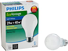 Philips 426007 29-watt A19 Dimmable Light Bulb, Soft White , 4-Pack