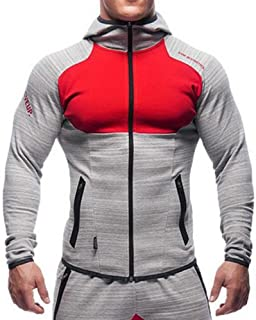 EVERWORTH Men's Gym Workout Hoodie Jacket Fitted Training...