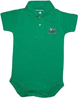 Creative Knitwear University of Notre Dame Fighting Irish Leprechaun Newborn Polo Bodysuit