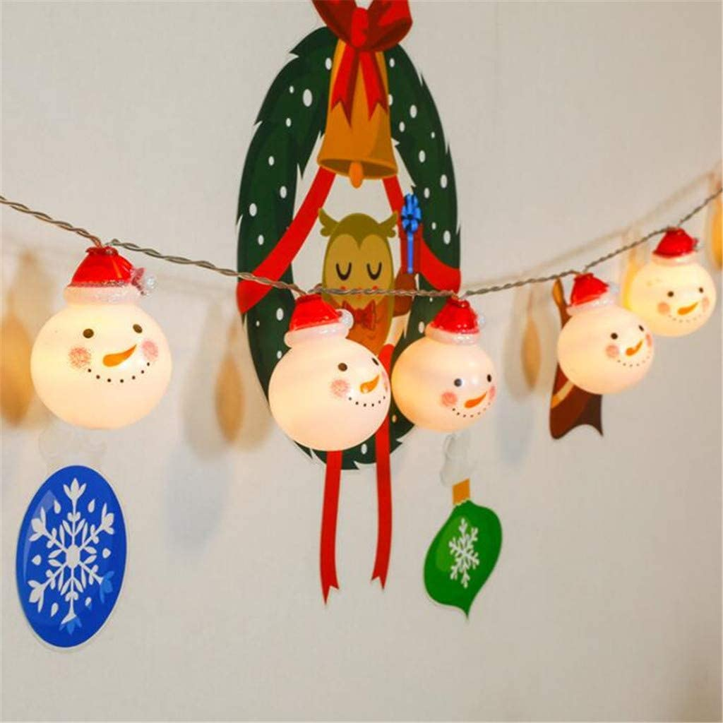 Austin Mall WP Outdoor Max 48% OFF Decorative String Lights Shape Chris Santa Claus and