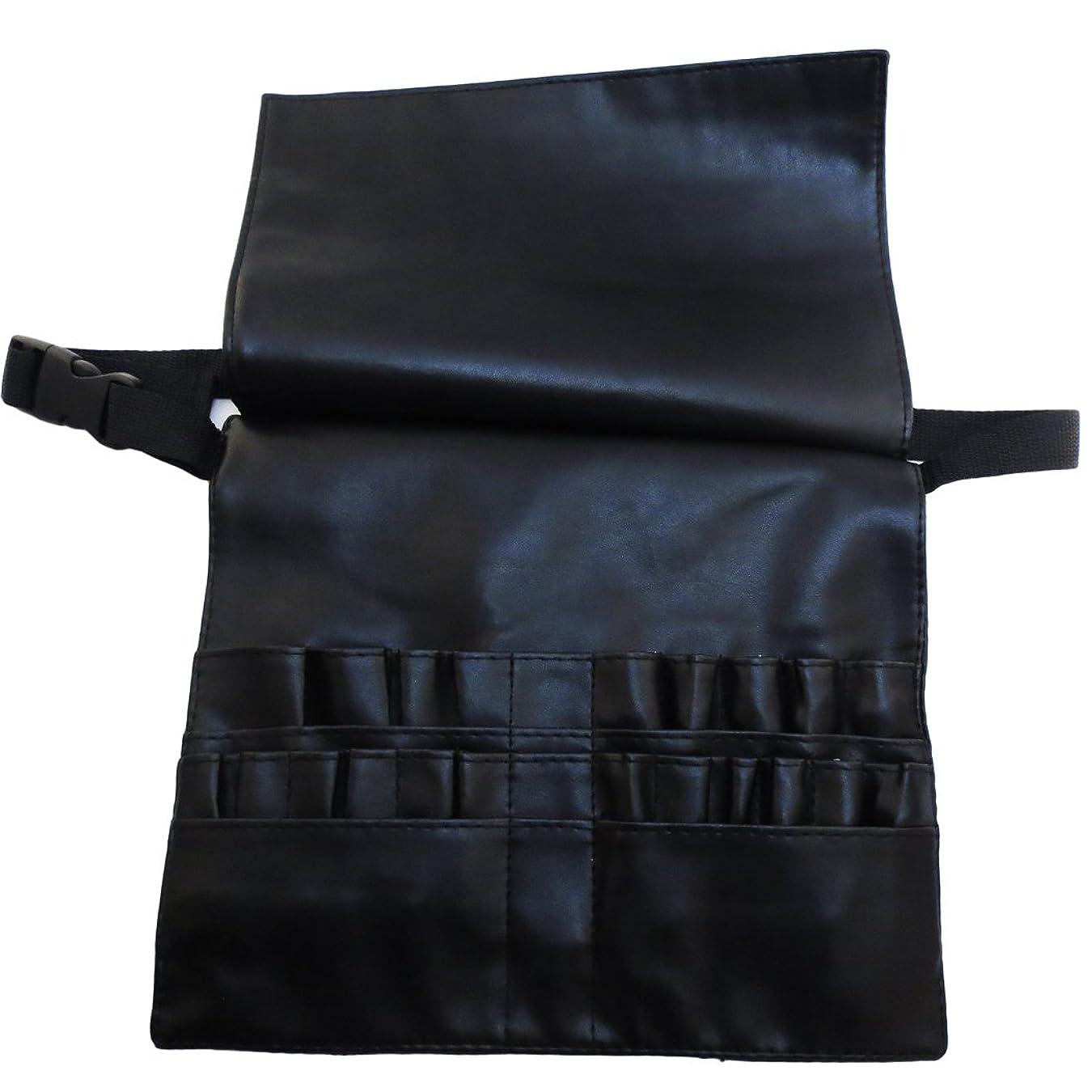 追うトレーニングめ言葉[モノジー] MONOZY メイクブラシ ケース 蓋付き プロ用 腰巻き メイク バッグ カラビナ セット