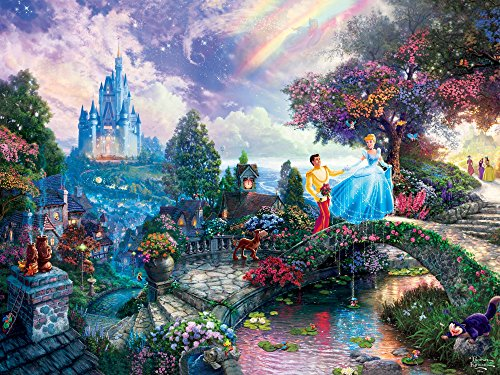 Ceaco Perfect Piece Count Puzzle - Thomas Kinkade Disney Dreams Collection - Cinderella Wishes Upon A Dream