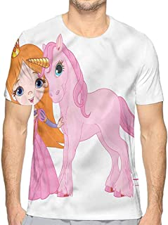 Funny t Shirt Princess,Pattern with Flowers Men's and Women's t Shirt
