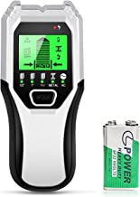 Stud Finder Sensor Wall Scanner - 5 in 1 Electronic Stud Sensor Locator Wood Beam Joist Finders Wall Detector Edge Center Finding with LCD Display for Wood Live AC Wire Metal Studs Detection (Silver)
