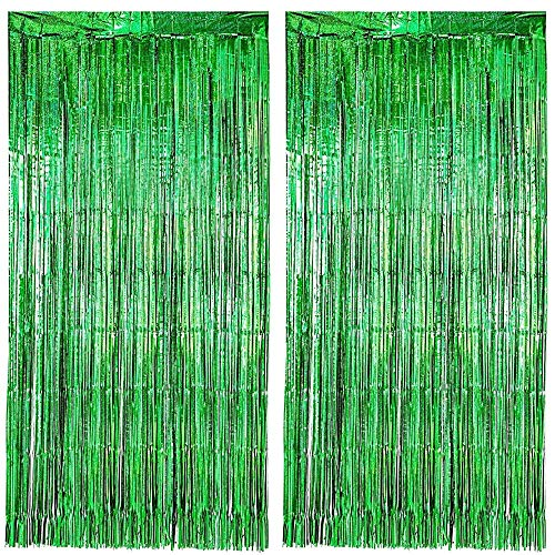 Lovelegis Party tents - birthday - metal - fringes - window fittings - doors - 1.90 x 1 m long - green color - pack of 2 - christmas and birthday gift idea
