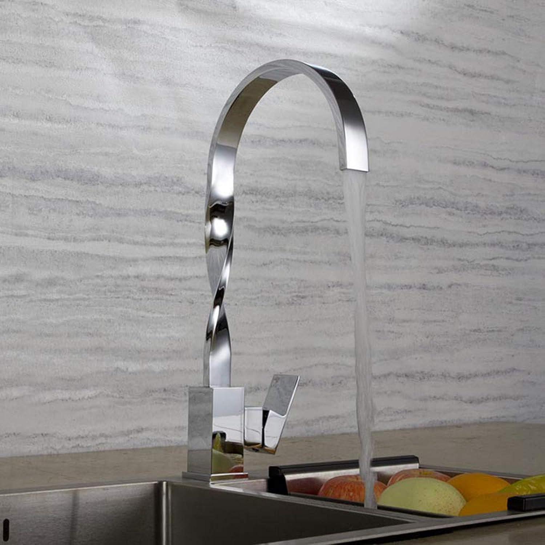 SEEKSUNG Küchenarmatur, Einhand-Einloch-Chrom hohe hohe Bogen-Centerset zeitgenssische Küchenarmaturen