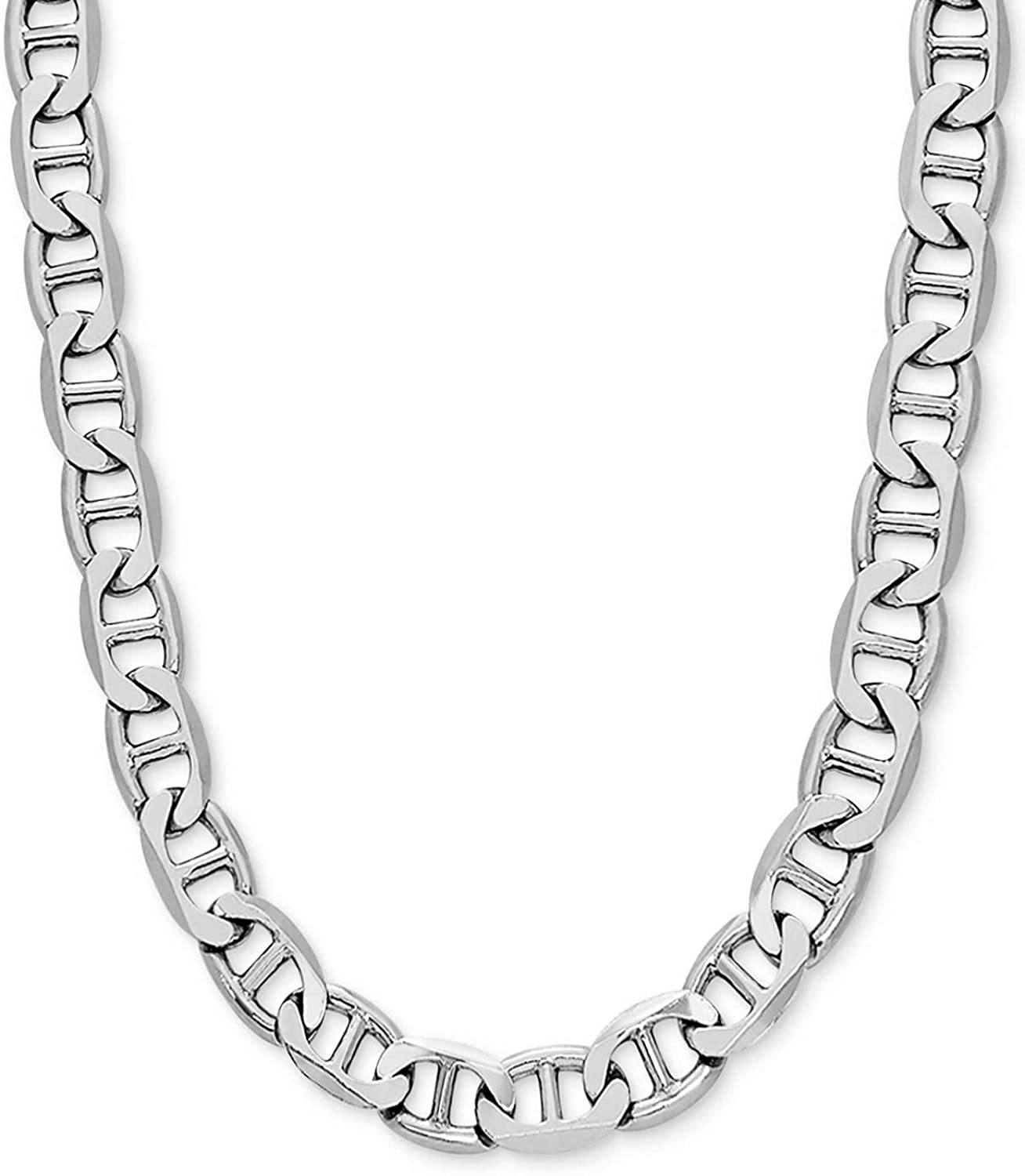 925 Sterling Silver 10mm Italian Solid Link N Mariner Max 44% Max 65% OFF OFF Flat Chain