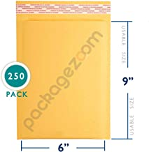 6x10 inches Kraft Bubble Mailer Self Seal Bubble Shipping Envelopes 250 Pack