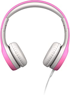 LilGadgets Connect+ Kids Premium Volume Limited Wired Headphones with SharePort (Children, Toddlers) - Pink